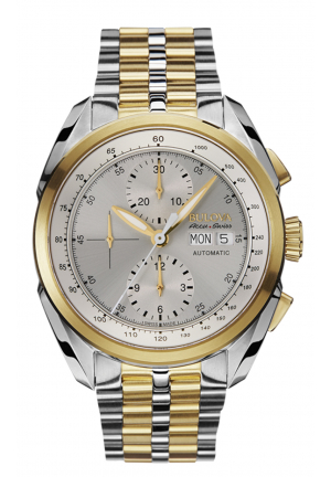 TELLARO COLLECTION ANALOG DISPLAY AUTOMATIC SELF WIND TWO TONE WATCH , 42.5MM 65C117