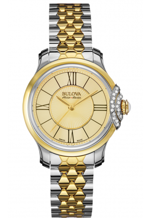 BELLECOMBE ANALOG DISPLAY QUARTZ TWO TONE WATCH , 31MM 65R159