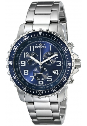 Invicta Men's II Collection Chronograph Stainless Steel Blue Dial Watch