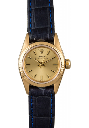 Rolex Ladies Datejust Oyster Perpetual in Yellow Gold