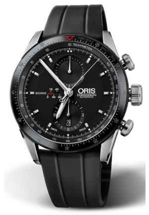 ORIS Artix GT Chronograph Automatic Black Dial Stainless Steel Men's Watch 674-7661-4434RS