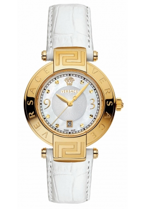 VERSACE REVE Yellow Gold Ion-Plated Stainless Steel Mother-Of-Pearl