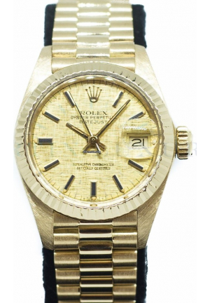 Rolex Ladies Datejust in 18K Yellow Gold