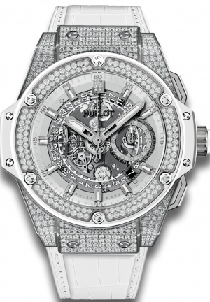 HUBLOT King Power Unico Titanium White Pav� 48mm