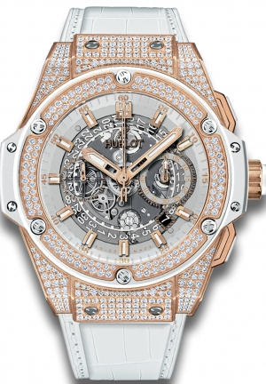 HUBLOT King Power Unico King Gold White Pav� 48mm