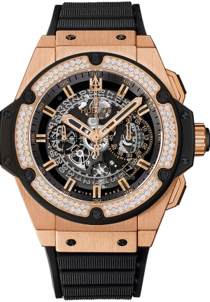 HUBLOT King Power Unico King Gold Diamonds 48mm