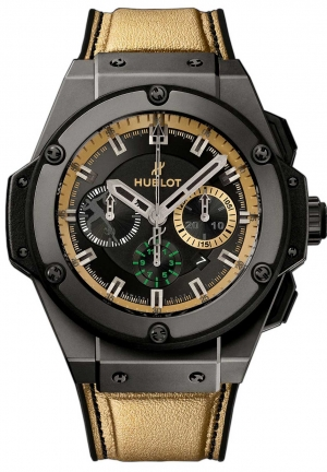 HUBLOT King Power Usain Bolt Black Chronograph Dial Men's Watch 48mm