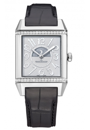 REVERSO SQUADRA LADY DUETTO SILVER AND BLACK DIAL LADIES WATCH,7058430
