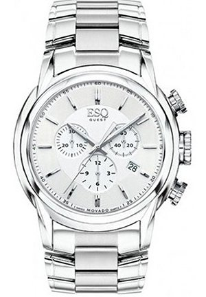 MOVADO Quest Stainless Steel Chronograph Mens Watch, 42mm