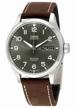 Oris Big Crown Pro Pilot Automatic Grey Dial Men's Watch 752-7698-4063BRLS