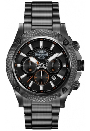 BULOVA Harley-Davidson Men's Stainless Steel Chronograph Bracelet Watch 42mm