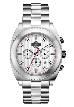 BULOVA Harley-Davidson Men's Bulova Silver Tone Chronograph Watch 42mm