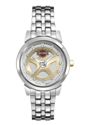 BULOVA Harley-Davidson Women's Bulova Stainless Steel Wrist Watch 30mm