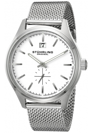 Stuhrling Original Men's Symphony Silver-Tone Stainless Steel Watch