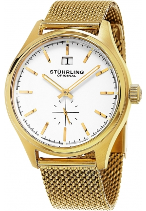 Stuhrling Original Men's Symphony Gold-Tone Stainless Steel Watch