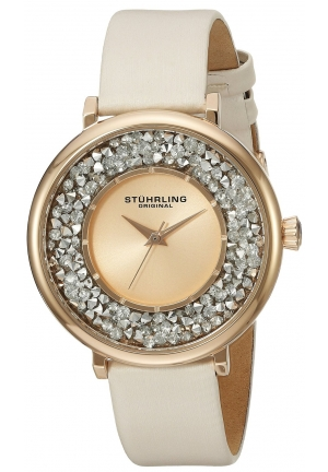 Stuhrling Original Women's Vogue Rose Gold-Tone Stainless Steel Watch