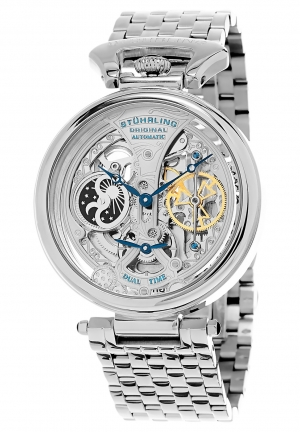 Stuhrling Original Men's GP15832 Legacy Analog Display Automatic Self Wind Silver Watch