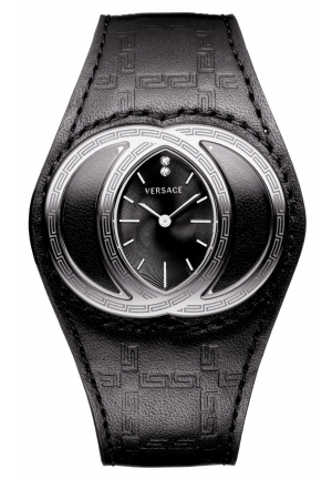 VERSACE Eclissi Analog Display Swiss Quartz Black Watch 39mm