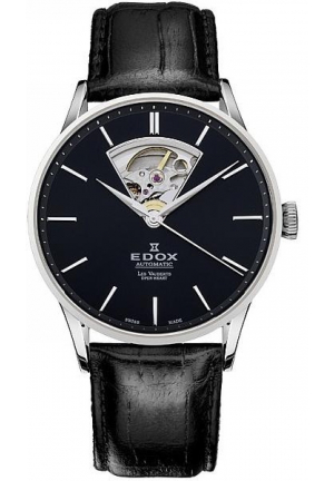 Edox Men's 85010 3N NIN Les Vauberts Automatic Black Dial Watch