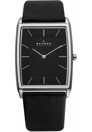 Skagen Men's Quartz Stainless Steel Black Dial Watch