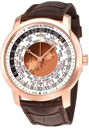 TRADITIONNELLE WORLD TIME 18 CARAT ROSE GOLD MEN'S WATCH 86060/000R-8985