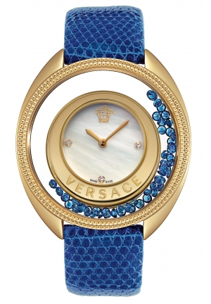 VERSACE Destiny Precious Yellow-Gold Plated Mother-Of-Pearl 39mm