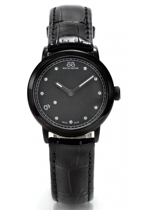 8 Rue du Rhone Double 8 Origin Black Dial Black Leather Ladies Watch 87WA120001