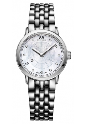 88 RUE DU RHONE Analog Display Swiss Quartz Silver Watch 87WA120005 29mm