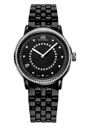 88 Rue du Rhone Double 8 Origin Black Dial Steel Ladies Watch 87WA120023