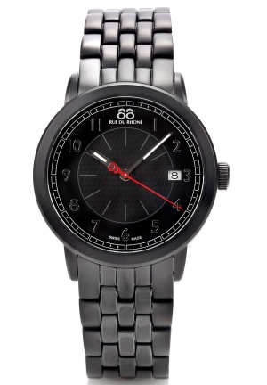 88 Rue du Rhone Double 8 Origin Black Dial Steel Bracelet Mens Watch 87WA120025