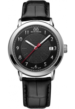 88 Rue du Rhone Double 8 Origin Black Dial Black Leather Mens Watch 87WA120030