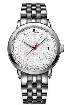 88 Rue du Rhone Double 8 Origin Automatic Silver Dial Mens Watch 87WA120031