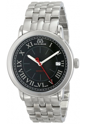 88 Rue du Rhone Double 8 Origin Automatic Black Dial Steel Mens Watch 87WA120034