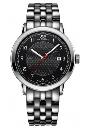 88 Rue du Rhone Double 8 Origin Black Dial Stainless Steel Mens Watch 87WA120037