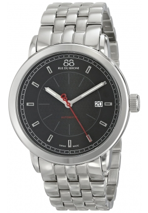 88 Rue du Rhone Double 8 Origin Automatic Black Dial Steel Mens Watch 87WA120042