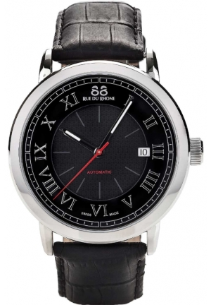 88 Rue du Rhone Double 8 Origin Automatic Black Dial Mens Watch 87WA120043