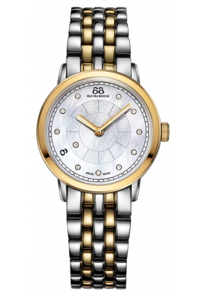 88 RUE DU RHONE Analog Display Swiss Quartz Two Tone Watch 87WA120059 29mm