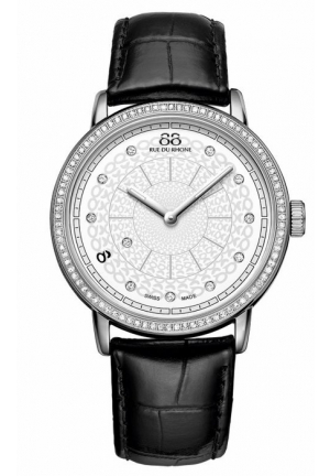 88 Rue du Rhone Silver Dial Black Leather Ladies Watch 87WA120061