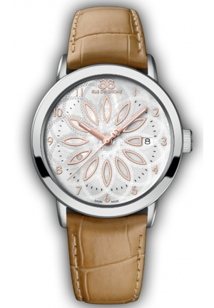 88 RUE DU RHONE Brown Leather Mother of Pearl Dial Ladies Watch 87WA140014 39mm