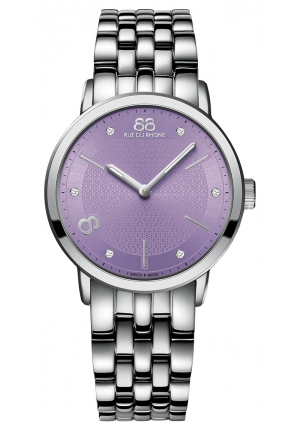 88 RUE DU RHONE Quartz Pearly Purple Watch 87WA143503 35mm