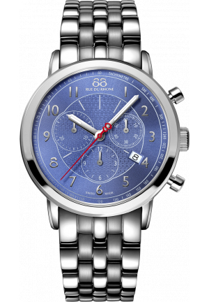 88 RUE DU RHONE MEN SWISS CHRONO WATCH 42MM