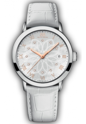 88 RUE DU RHONE White Leather Mother of Pearl Dial Ladies Watch 39mm