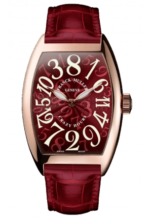 CRAZY HOURS RED DIAL 8880 CH RED, 46.5 X 40MM