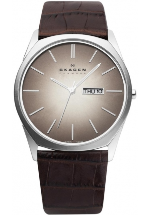 Skagen Men's Stainless Steel Brown Dial Watch