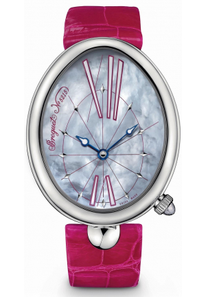 REINE DE NAPLES WHITE MOTHER OF PEARL DIAL LADIES WATCH 8967ST/G1/986, 35.5 MM X 43.75 MM