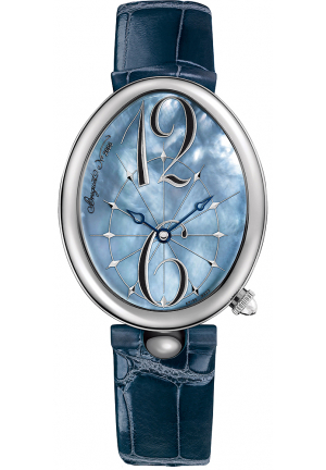 REINE DE NAPLES BLUE MOTHER OF PEARL DIAL LEATHER LADIES WATCH 8967ST/V8/986, 35.5 X 43.75MM