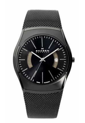 Skagen Men's Black Label Black-On-Black Steel Watch