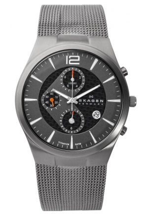 Men's Skagen Titanium Chronograph Watch 906XLTTM