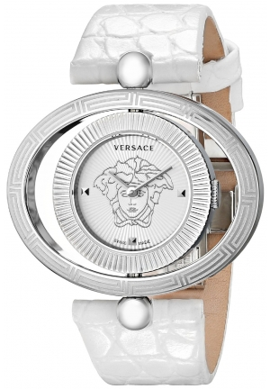 VERSACE Eon Stainless Steel Reversible Bezel White 40mm