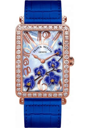 FLOWER COLLECTION 952 QZ ORC D ROSE GOLD BLUE, 36.6 X 26MM
